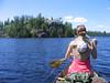 The beautiful landscape of Alpine Lake.  And Meg's back.