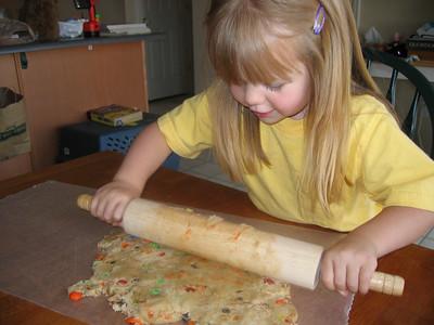 Baking cookies - June 2006