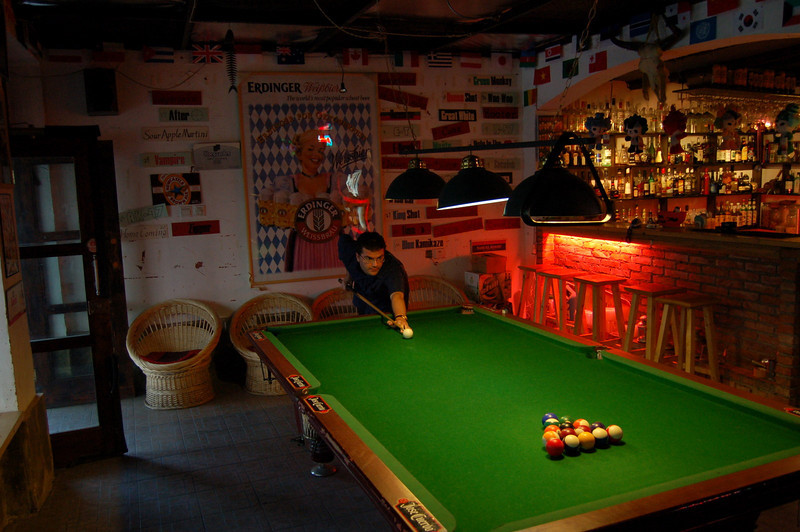 Pool in Houhai bar