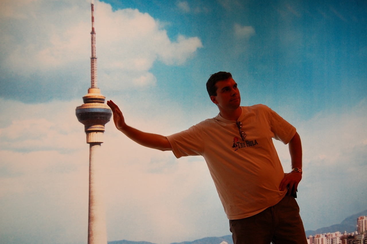 Leaning on the TV tower