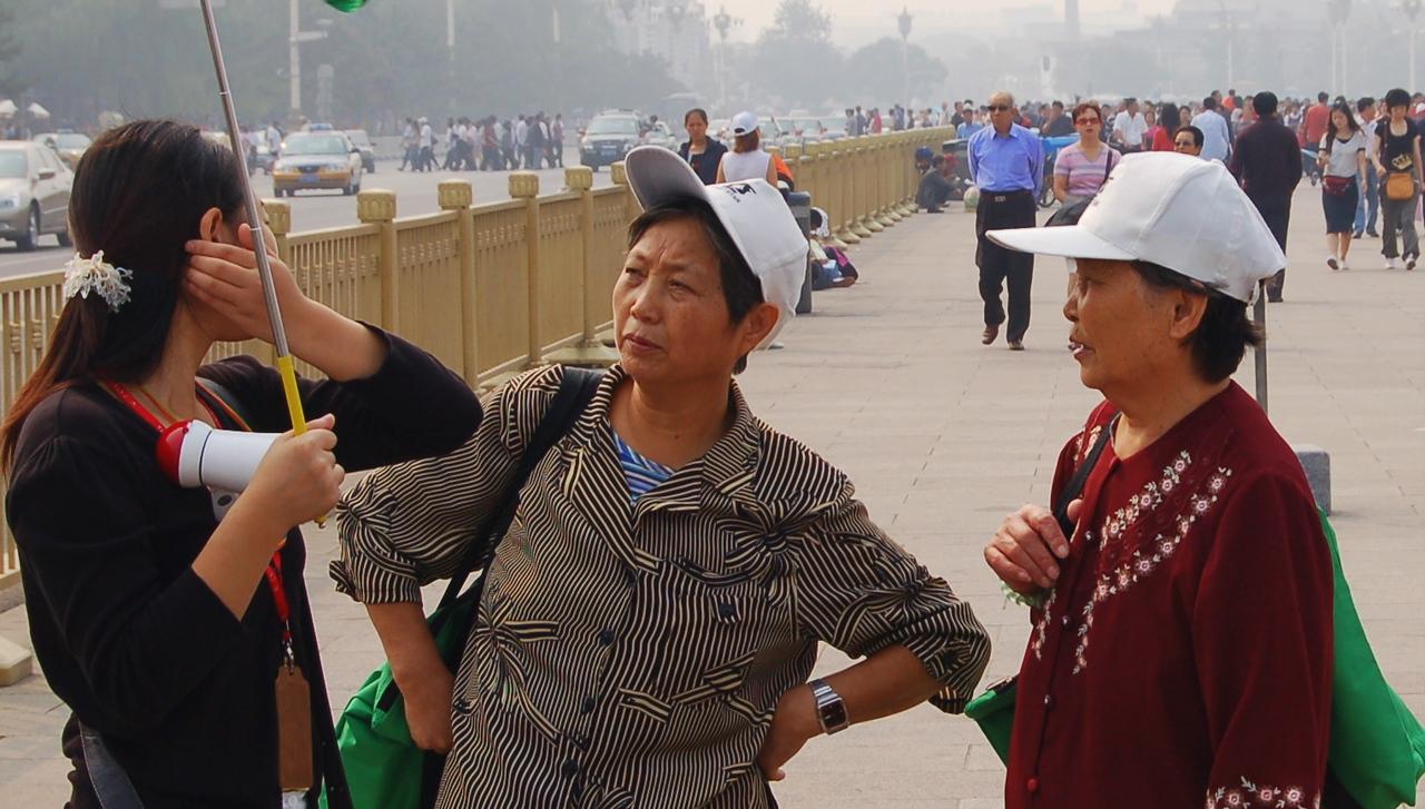 Women in Tiananmen Square