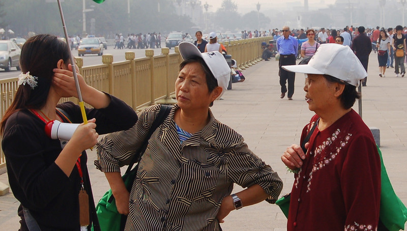 Women in Tiananmen Square