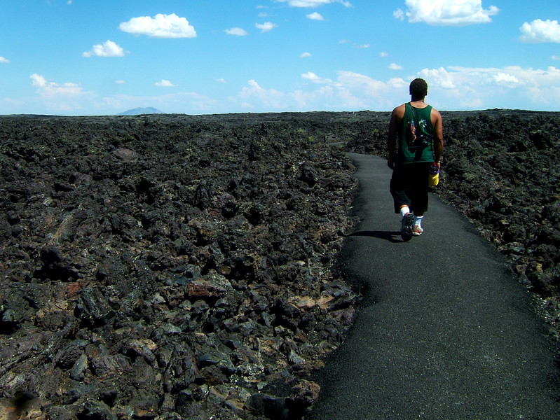 Leaving Idaho, we passed the lava fields at Craters of the Moon National Monument and stopped in to check them out.