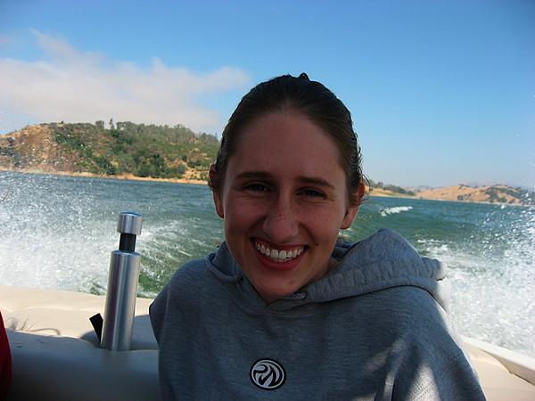 Katy enjoying the boat