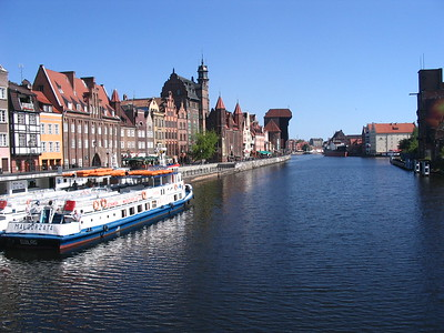 Gdansk's old harbor - Leslie Rowley