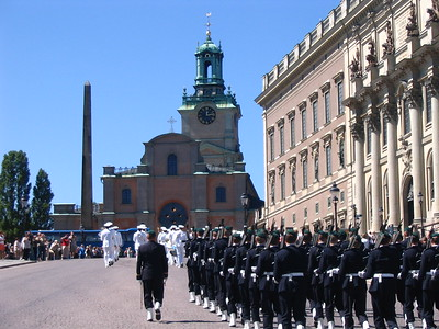 Changing of the Guard in Stockholm - Leslie Rowley