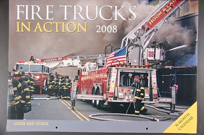 Fire Trucks in Action Calendar - 2008