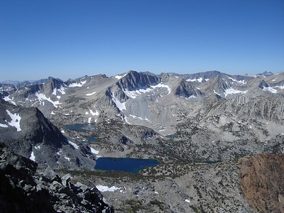 Mount Goode above the Bishop Creek Drainage.