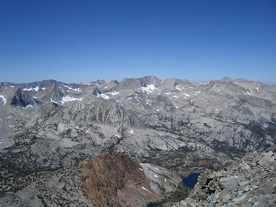 Looking north from the ridge.
