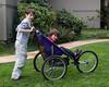 Benjamin with Ben in the stroller.