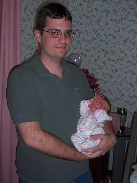James Thomas Colton holds Cecelia
