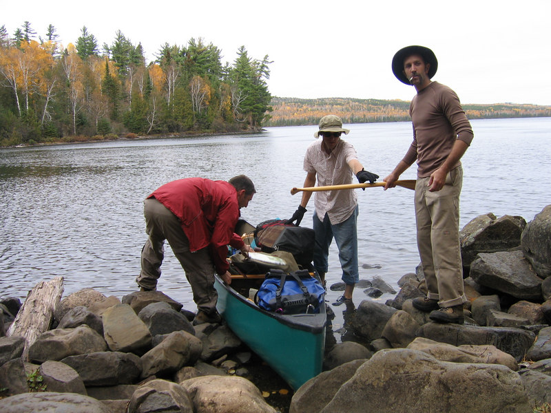 Technically, its against BWCA policy to have more than 9 people and 4 canoes in one spot together at any time.  <br /> <br /> We did our best to keep to this rule, but in Chad's honor we respectfully bent it a bit by including 14 people on the trip.