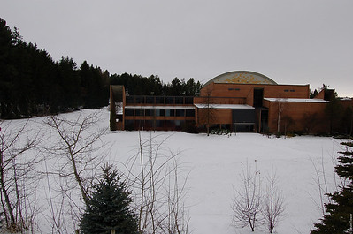 A view of the Physical Ed. Bldg on UI Campus as seen from the Admin parking lot.