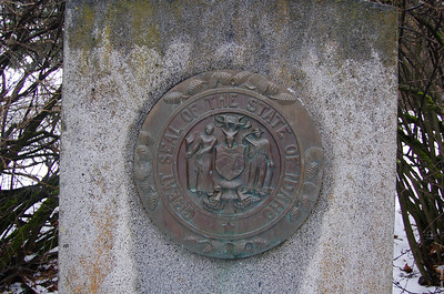 A closer view of the Seal of Idaho.