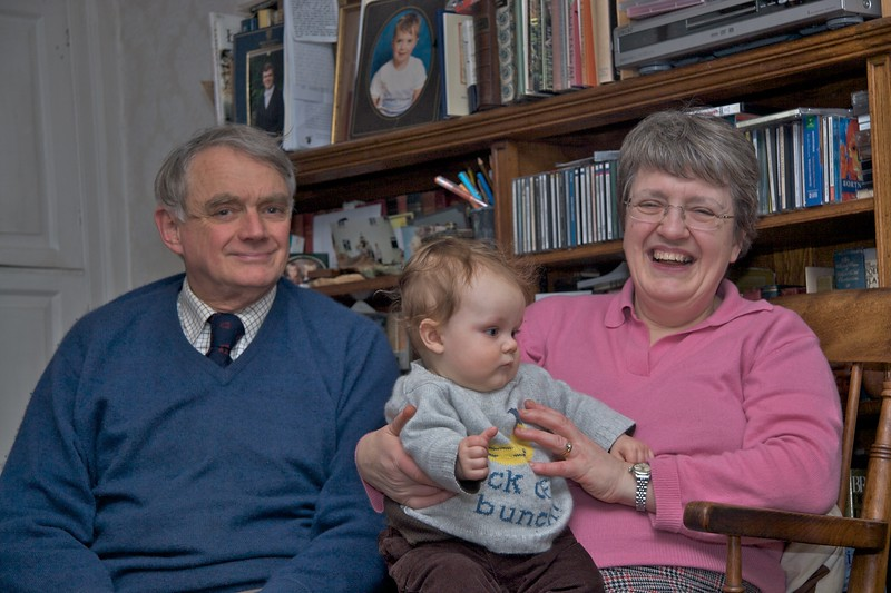 Grandparents • Daddy and Mummy with their youngest grandson, Edmund.