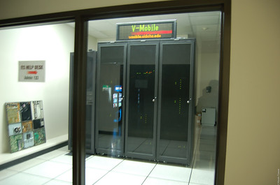 "The front window into the ITS data center.  ""On display"" as it were."