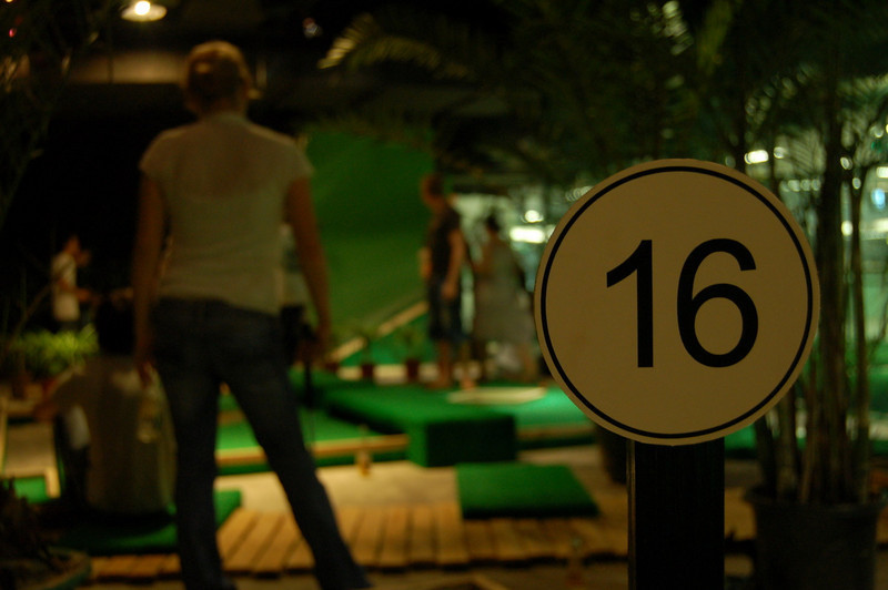 Hole 16 (and arty Prisca)