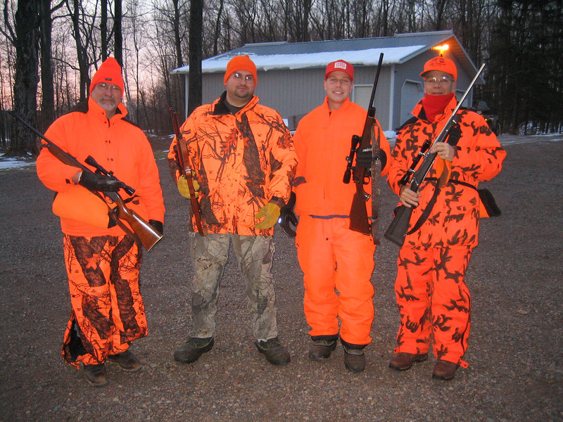 """FOUR MERRY HUNTERS READY TO EITHER """"GET VENISON OR STARVE""""  DEER CAMP 11/06"""