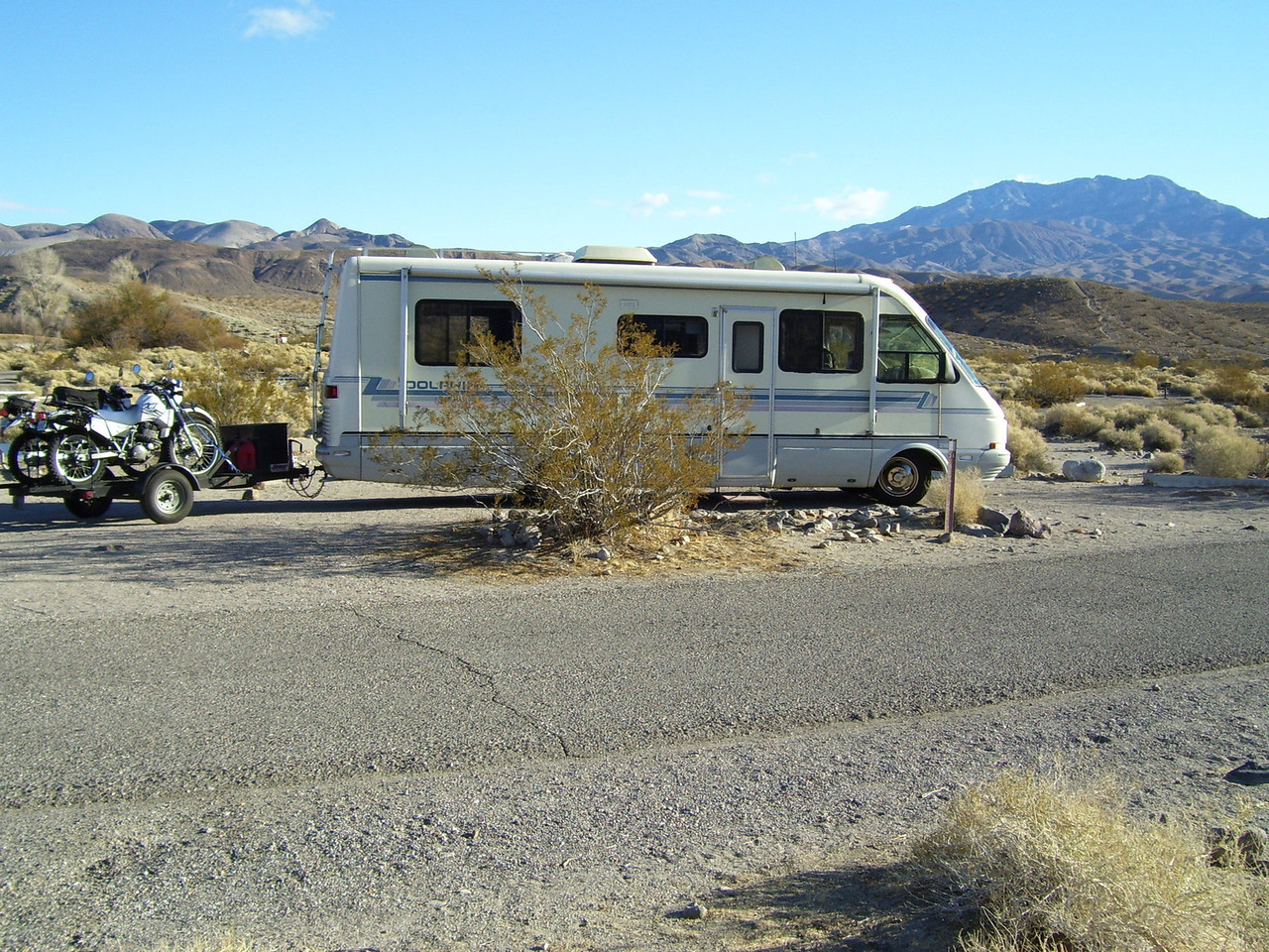 Mesquite Springs campground at the Northern end of Death Valley.