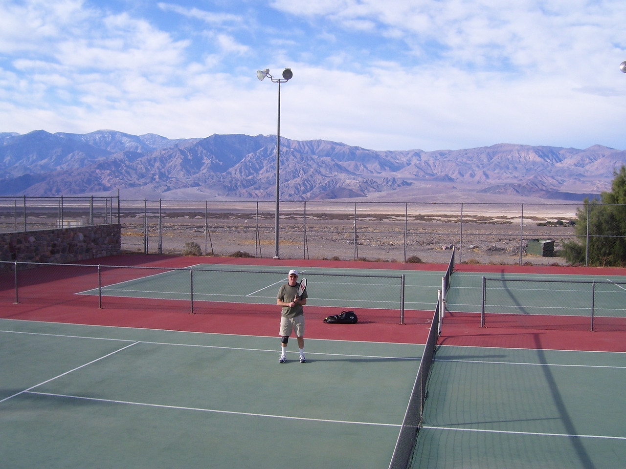 We used the tennis courts and the hot-spring-fed pool at Furnace Creek Inn almost every day. It's was nice having our friends stay in the pool side bungalow!