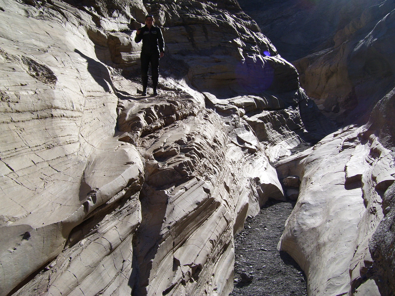 Lorrie in Mosaic Canyon.