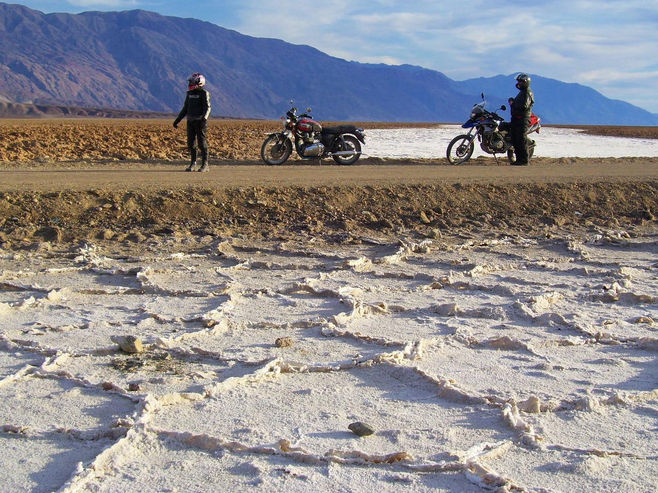 Salt flats. it was hard like asphault.