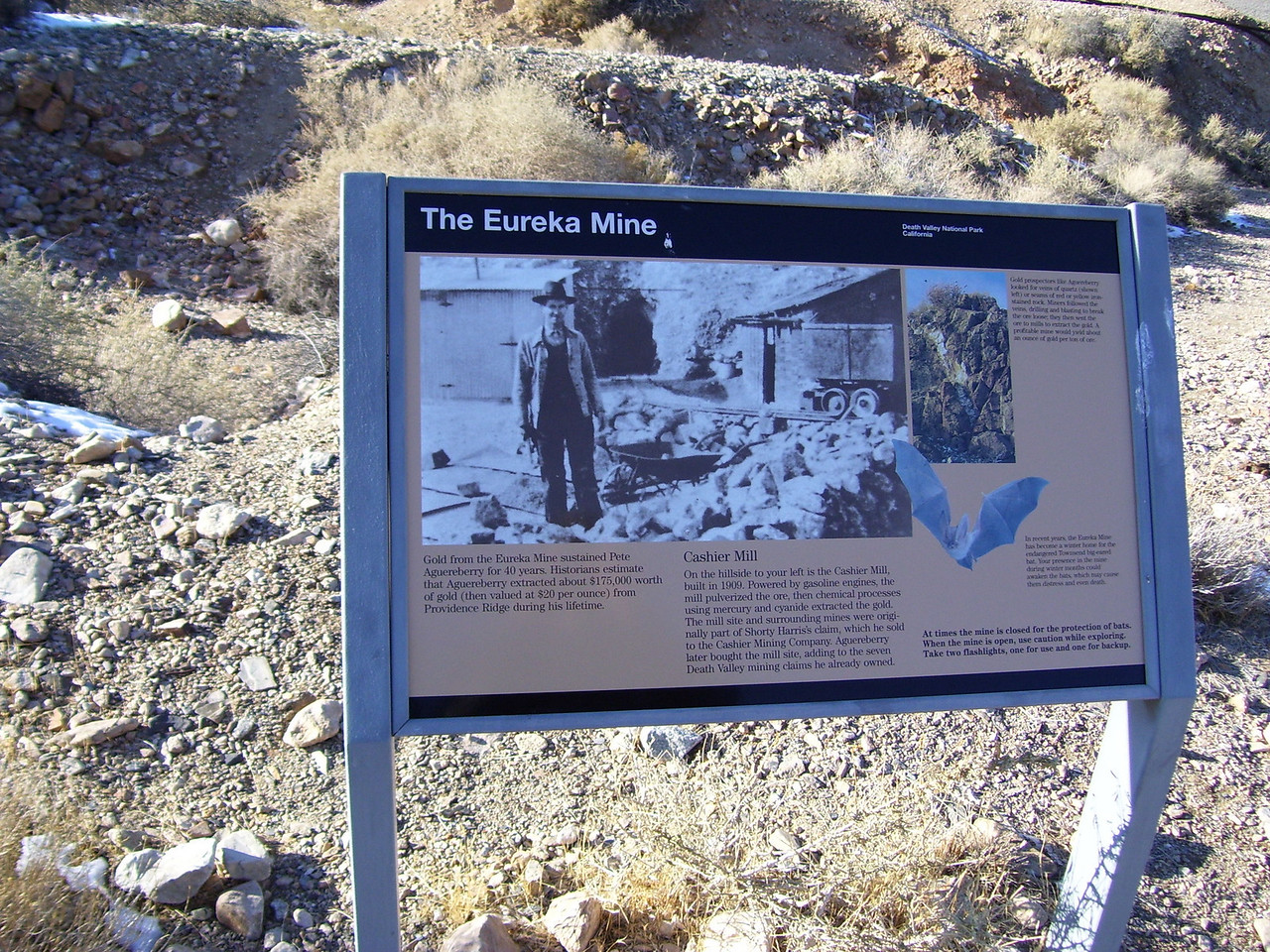 Death Valley is filled with many old mines.