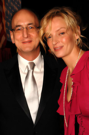 Peter Gelb (Metropolitan Opera General Manager) with Uma Thurman