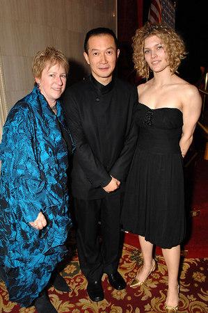 Rachel Cooper (Director of Cultural Programs, Asia Society), Tan Dun, Diana Roggemann (Special Events Manager)