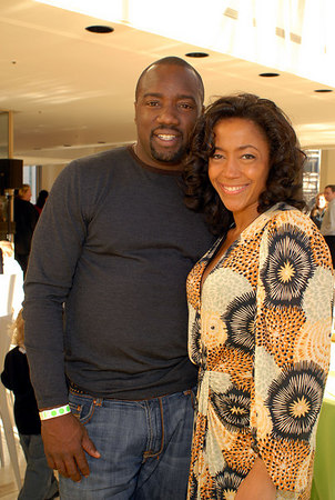 Actor Malik Yoba and Yvonne Doggett-Rhea