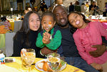 Actor Malik Yoba with wife Terry and children Josiah and Bria Yoba