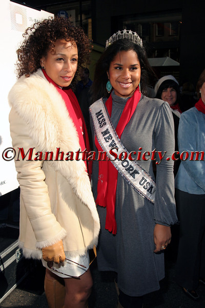 Tamara Tunie and Miss New York USA, Adriana Cruz at the 20th Annual Miracle on Madison Avenue to Benefit the Children's Aid Society