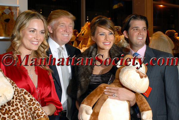 Vanessa Trump, Donald Trump, Melania Trump & Don Trump Jr. at FAO SCHWARZ for a Special Birthday Party for Vanessa & Don Trump Jr. to Benefit Operation Smile