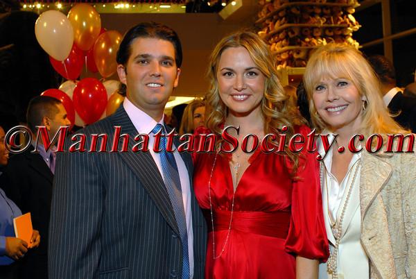 Don Trump, Jr., Vanessa Haydon Trump and Bonnie Haydon