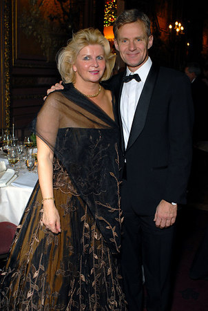 Vibeke Steineger (Christmas Ball Chairperson) and Jan Egeland (Under-Secretary-General for Humanitarian Affairs and Emergency Relief Coordinator, United Nations)