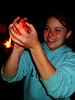 Fun gets hot around the campfire after a day's climbing, as I teach a few college students the game of Hot Coal.