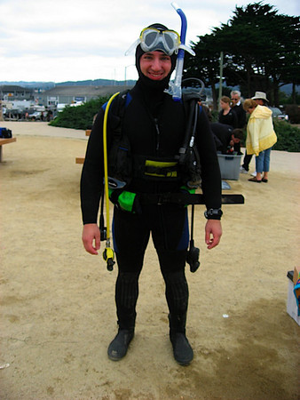 Aaron with all the dive gear on