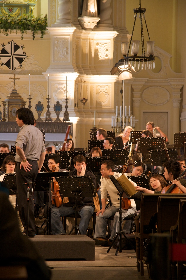 Orchestra rehearsal • Inside S. Domingos an orchestra was rehearsing, presumably for a concert later that evening.