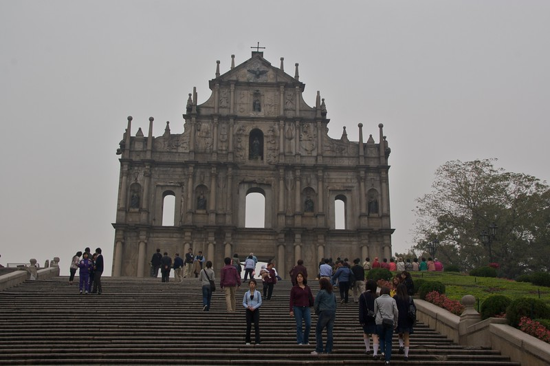 São Paulo • The façade of the church of São Paulo in Macau, which is all that remains of the building after a fire started in the kitchens in 1835.