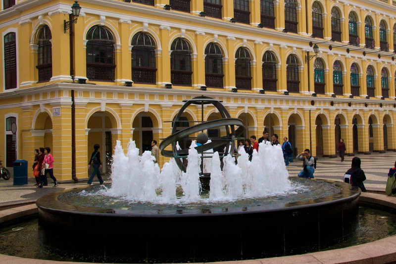 Largo do Senado • The fountain in the Largo do Senado in Macau.