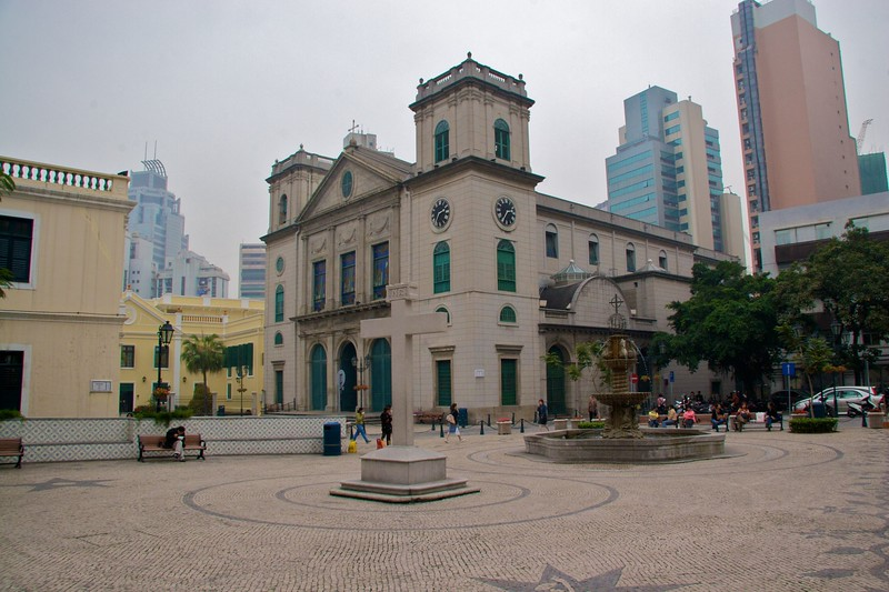 The Sé • The Sé, the cathedral in Macau.