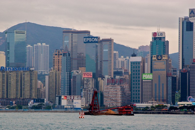 Hong Kong • A view of Hong Kong from Victoria Harbour.
