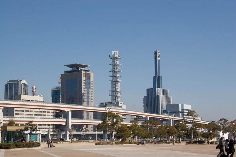Kobe port skyline