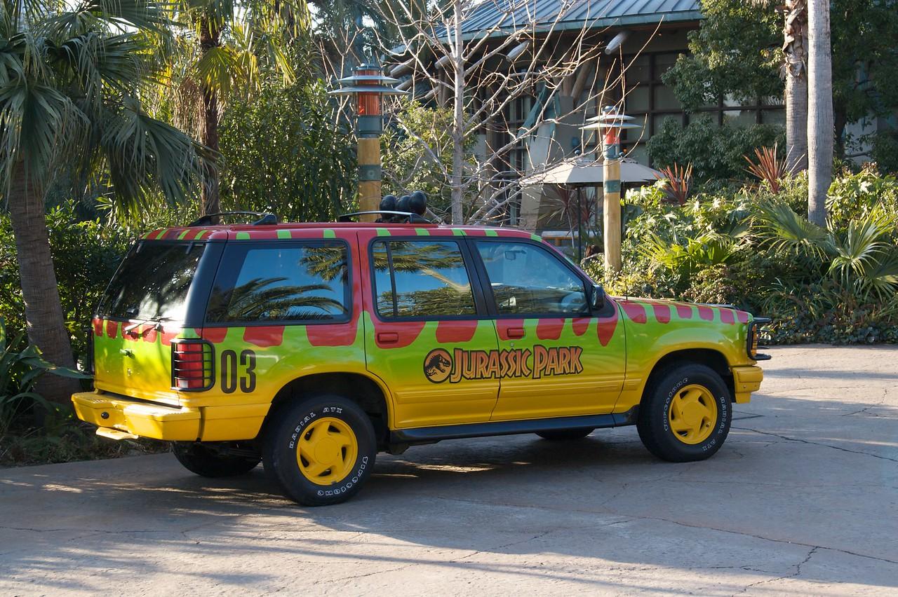 Jurassic Park ranger's jeep • At Universal Studios Japan, Osaka.