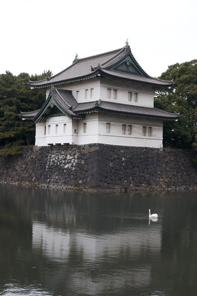 Watch tower • One of many similar watch towers positioned around the moat of the Imperial Palace in Tokyo.