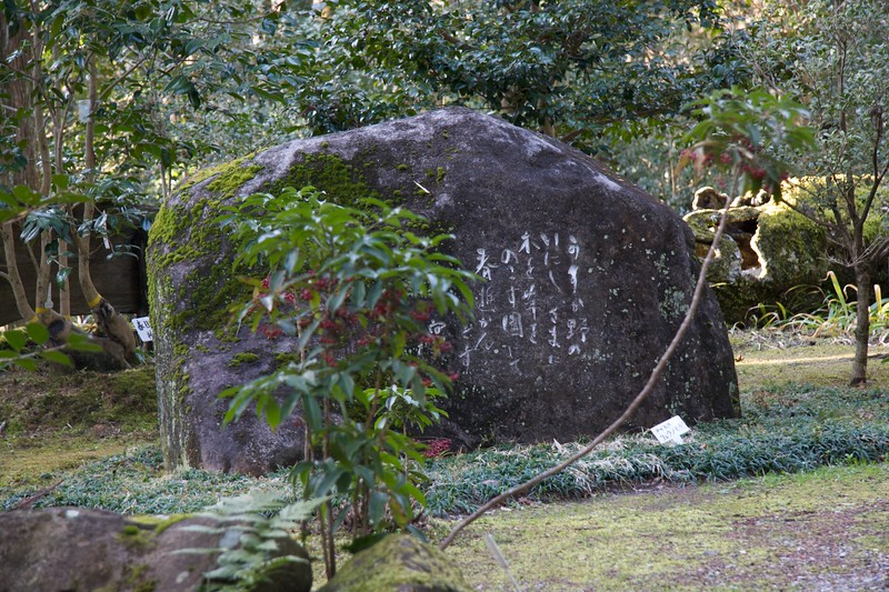 Rock-inscription at the Botanical Garden