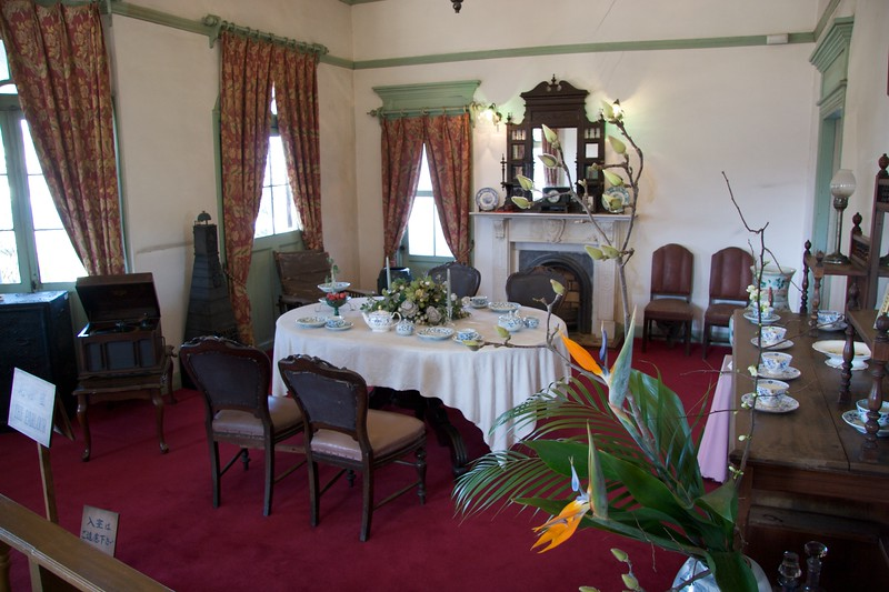 Parlour in the Glover House • The parlour in the Glover house, in Glover Garden, Nagasaki.