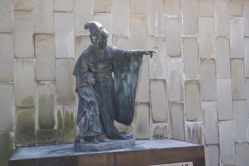 Statue of Tamaki Miura, Glover Garden • Puccini's opera <cite>Madame Butterfly</cite> is set in colonial Nagasaki. Tamaki Miura became famous for playing the rôle of the eponymous Madame Butterfly.