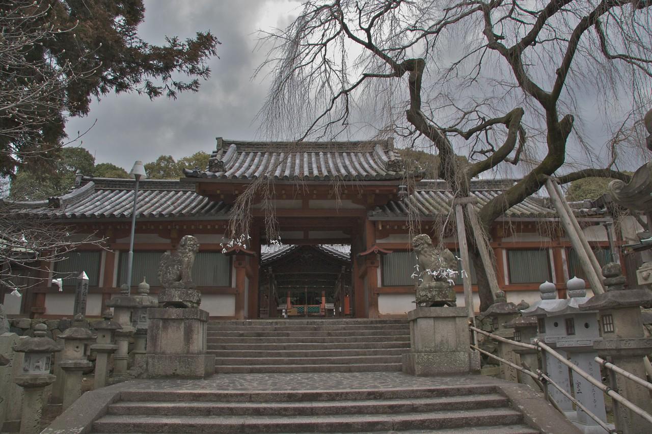 Himuro Shrine • The entrance to Himuro Shrine in Nara.