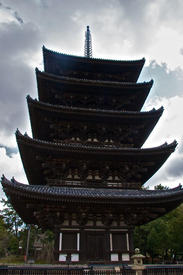 The five-storey pagoda • The five-storey pagoda, part of Kofuku-ji in Nara.